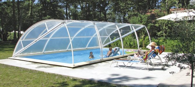 Abris de piscine bas amovibles abrid al - Ideal protection piscine ...