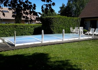 Abri de piscine amovible primo roman bas for Verin abri piscine