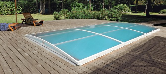 Abris piscines plats abri piscine extra plat abrid al - Ideal protection piscine ...