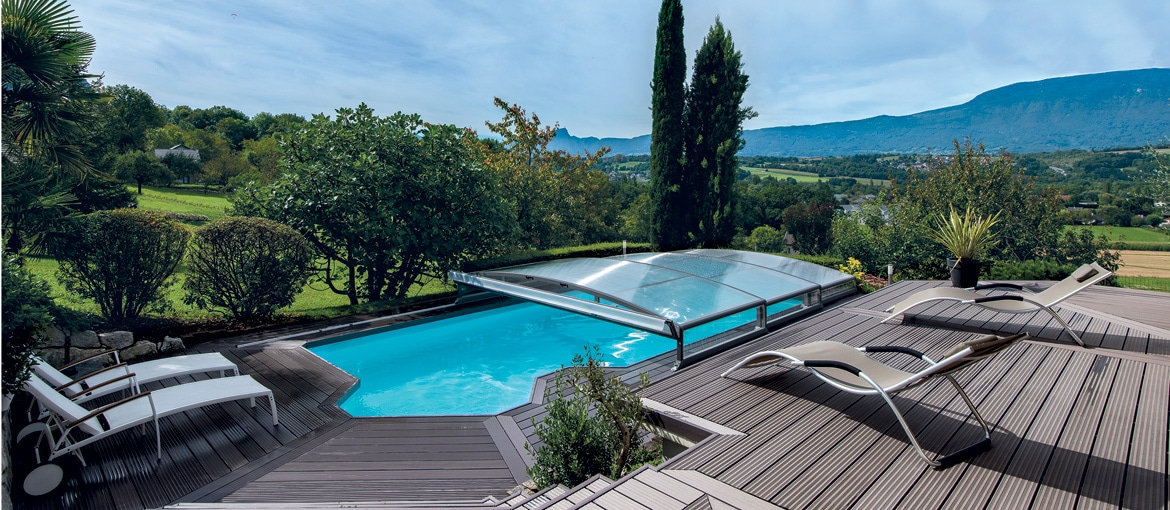 Abris de piscine t l scopiques compact stretto abrid al for Realiser sa piscine
