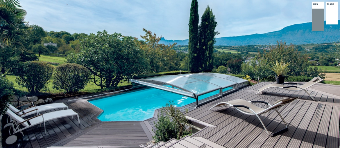Abris de piscine t l scopiques compact stretto abrid al for Abris de piscine occasion