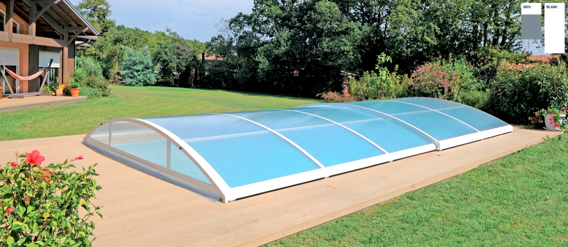 Abris de piscine coulissant tempo abri piscine coulissant abrid al - Ideal protection piscine ...